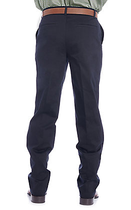Wrangler Men's Black Flat Front Relaxed Fit Wrinkle Resistant Casual Pants - Tall