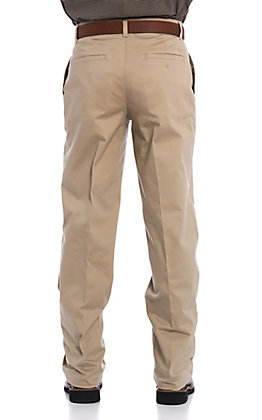 Wrangler Men's Casual Pebble Flat Front Relaxed Fit Pants