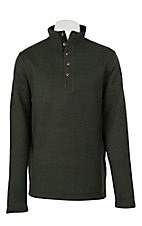 Stetson Men's Green Button Pullover