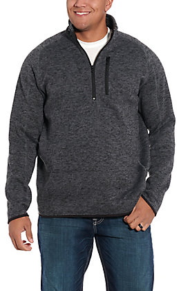 Stetson Men's Heather Grey Polyester Pullover