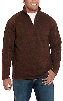Stetson Men's Heather Brown Polyester Pullover