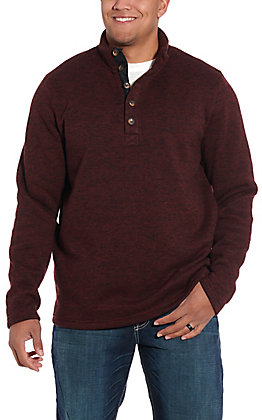 Stetson Men's WIne Button Polyester Pullover