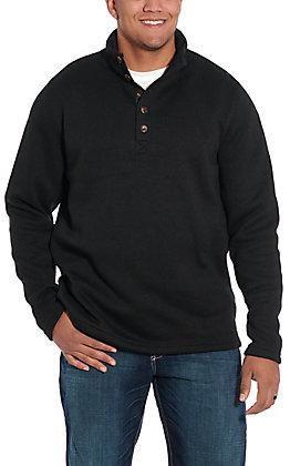 Stetson Men's Black Button Polyester Pullover