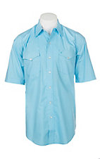 Stetson Men's Light Blue Mini Geo Print S/S Western Snap Shirt