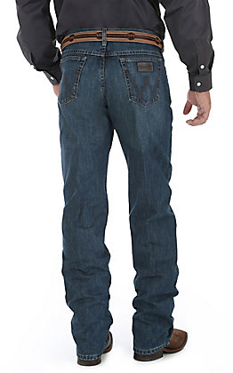 Wrangler 20X Men's 01 Competition River Medium Wash Relaxed Fit Boot Cut Jean - Long Length