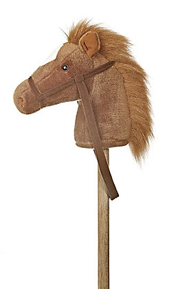 Aurora Brown Giddy Up Pony 37in Stick Horse