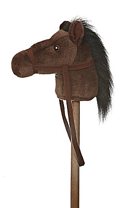 Aurora Dark Brown Giddy Up Pony 37in Stick Horse