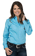 Roper Women's Light Blue Long Sleeve Western Shirt