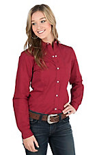 Roper Women's Red Long Sleeve Western Shirt