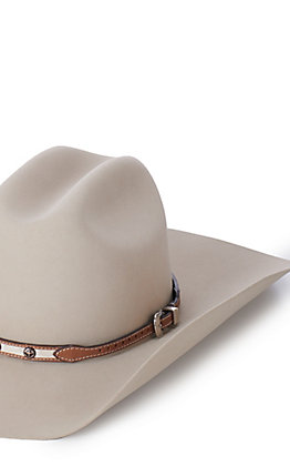 M & F Western Leopard Concho Leather Hatband