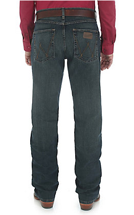 Rock 47 by Wrangler Men's Vintage Dark Wash Advanced Comfort Competition Slim Fit Jeans