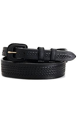 Vogt Men's Black Basket Weave Tapered Western Belt