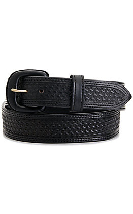 Vogt Men's Black Basket Weave Western Belt