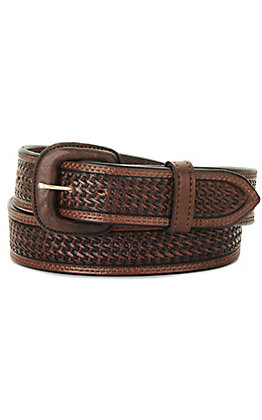 Vogt Men's Dark Brown Basket Weave Western Belt