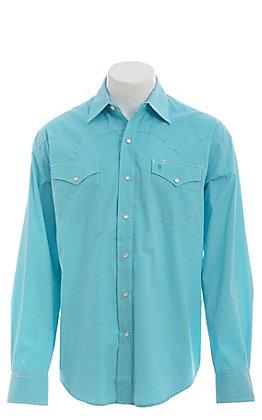 Stetson Men's Turquoise Geo Print Long Sleeve Western Shirt