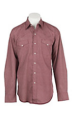 Stetson Men's Red Circle Mini Print Long Sleeve Western Shirt