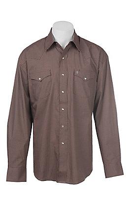Stetson Men's Mini Geo Diamond Print Western Snap Shirt