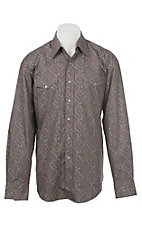 Stetson Men's Grey Paisley Snap Front Western Shirt