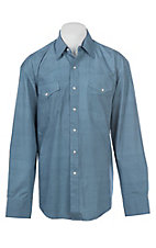 Stetson Men's Mini Geo Square Blue Western Snap Shirt