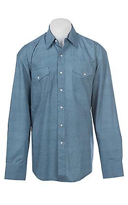 Stetson Men's Mini Geo Square Blue Western Snap Shirt