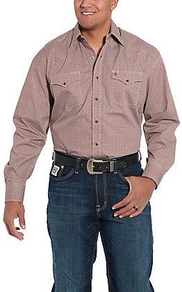 Stetson Men's Brown Medallion Print Long Sleeve Western Shirt