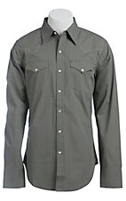 Stetson Men's Grey Tiny Dots Print Long Sleeve Western Snap Shirt
