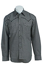Stetson Men's Black Shadow Print Western Shirt