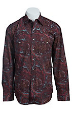 Stetson Men's Red Atlantis Paisley Western Shirt