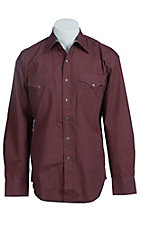 Stetson Men's Red Ditzy Floral Print Western Shirt