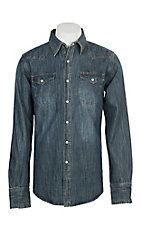 Stetson Men's Denim L/S Western Shirt