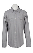 Stetson Men's Solid Grey Twill Western Snap Shirt