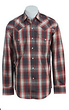 Stetson Men's Red Line Plaid Western Shirt