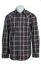 Stetson Men's Grey Plaid Western Shirt