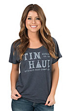 Tin Haul Women's Heather Grey Tin Haul State Fair Campout Casual Knit Tee