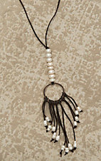 Jewelry Junkie Brown with Pearls and Dream Catcher Necklace