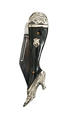 Vogt Ladies Leg Black Marble Pocket Knife
