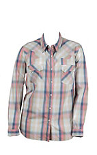 Roper Women's Pastel Multicolor Plaid Long Sleeve Western Snap Shirt- Plus Sizes