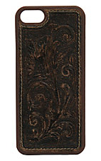 M&F Western Products Distressed Brown Embossed Tooled Flower iPhone 5 Case