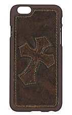 Nocona Distressed Brown Leather w/ Cross iPhone 6 Case