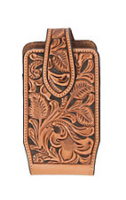 Nocona Tan Floral Embossed Cell Phone Case