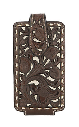 Nocona Large Brown Laced Edge Cell Phone Case