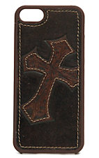 Nocona Distressed Brown Leather w/ Cross iPhone 5 Case