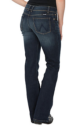 Wrangler Retro Women's Sadie Dark Wash Low Rise Boot Cut Jeans
