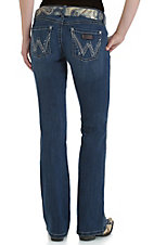 Wrangler Premium Patch Women's Sadie Medium Dark Wash At Hip Rise Boot Cut Jean 07MWZTB
