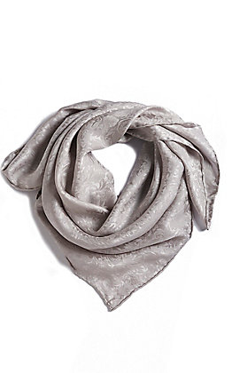M&F Silver Tonal Floral Wild Rags Scarf