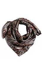 M&F Paisley Brown Wild Rags Scarf