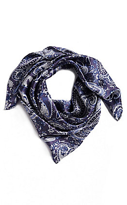 M&F Blue Paisley Wild Rags Scarf