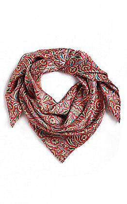 M&F Red Floral Wild Rags Scarf