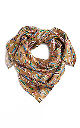 M&F Gold Feather Wild Rags Scarf