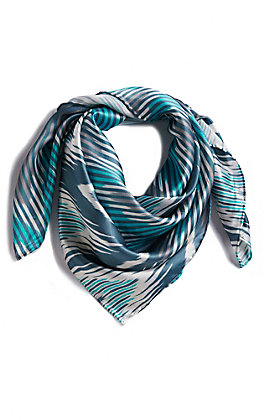 M&F Tuquoise Chevron Wild Rags Scarf